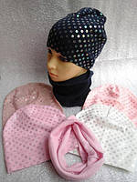 Шапочка с шарфиком бафф, фото 1