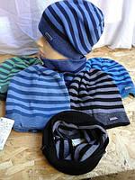 Весенняя шапочка для мальчика полоска