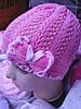 Весенние  шапочки для девочки