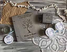 Весільний набір книга побажань і шкатулка для кілець