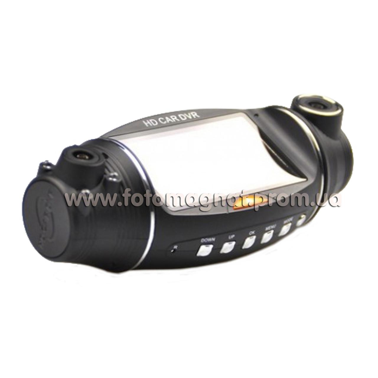 Автомобильный видеорегистратор DVR Х 310 /2 камеры(хороший видеорегистратор автомобильный)