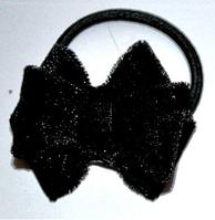 Бархатная резинка для волос - черная