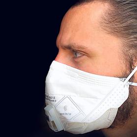 Респіратор захисний-маска для обличчя 3M VFlex 9161 FFP1 з клапаном. 15 шт. Упаковка.