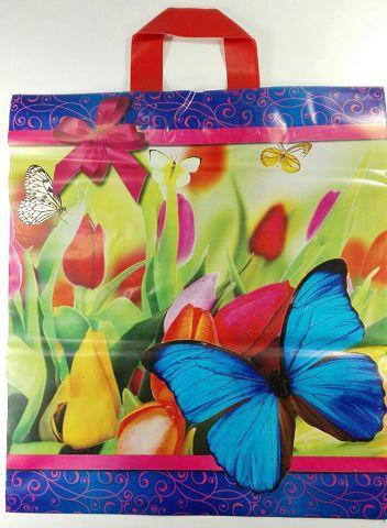 """Пакет полиэтиленовый цветной с петлевой ручкой (40*45) """"Весна""""  (25 шт)"""