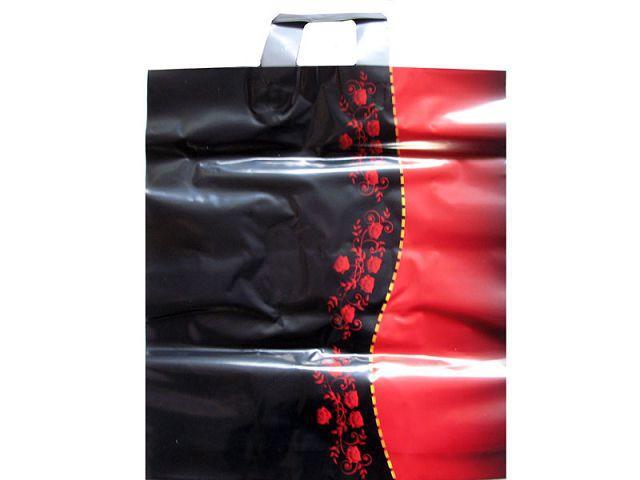 """Пакет полиэтиленовый цветной с петлевой ручкой (40*45) """"Красное и Черное""""  (25 шт)"""