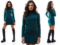 Осеннее платье строгого фасона 4 цвета