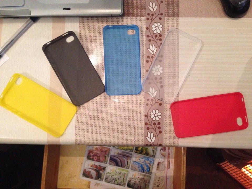 Чехол для iPhone 5 и 5s (прозрачный, матовый) Ультратонкий 0.3 mm