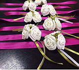 Бутоньерка с цветами  на руку гостям алая (разные цвета), фото 7
