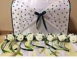 Бутоньерка с цветами  на руку гостям алая (разные цвета), фото 8