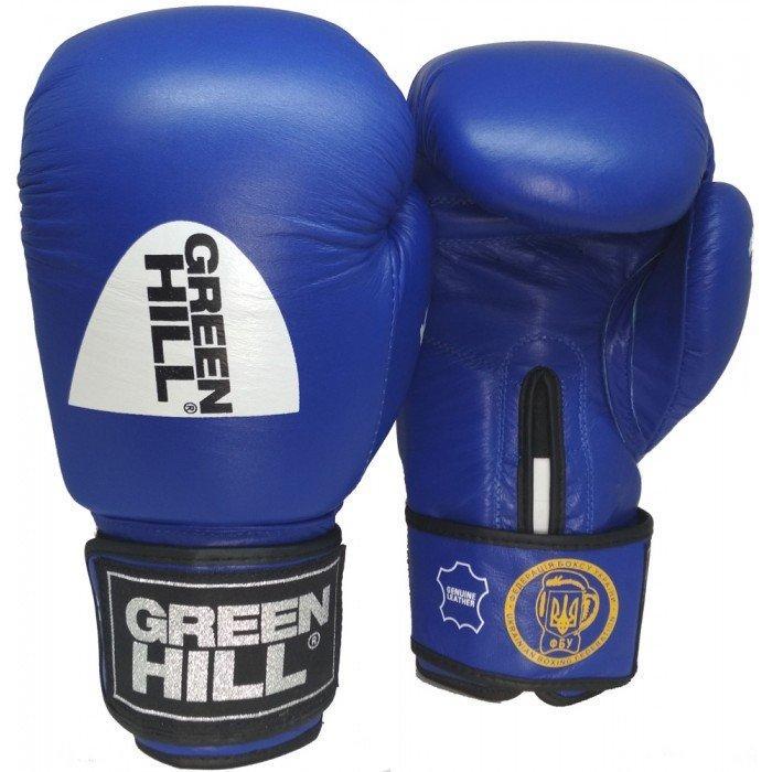 """Боксерские перчатки """"KNOCK""""ФБУ Green Hill (синий)"""