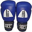 """Боксерские перчатки """"KNOCK""""ФБУ Green Hill (синий), фото 2"""