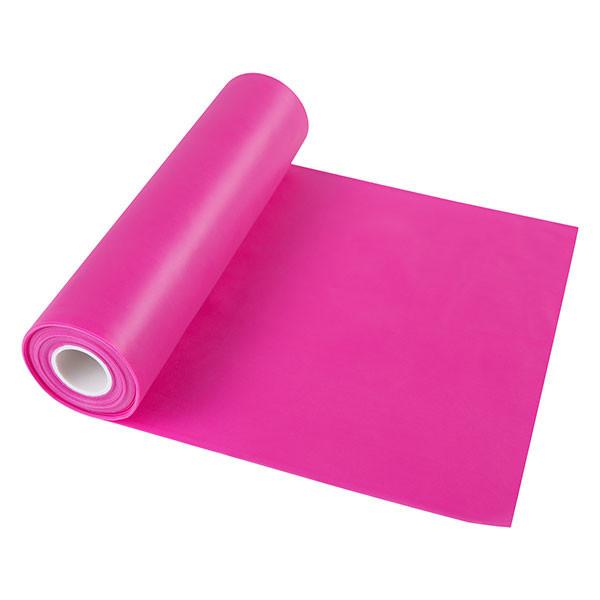 Лента эластичная для фитнеса розовая, TPE, 2,5м*150*0,35мм