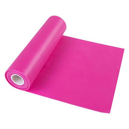 Лента эластичная для фитнеса розовая, TPE, 2,5м*150*0,35мм, фото 2