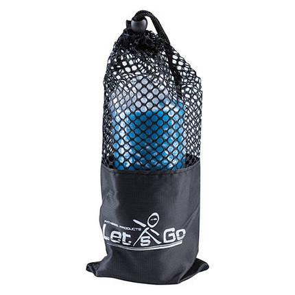 Лента эластичная для фитнеса синяя, TPE, 2,5м*150*0,35мм, фото 2