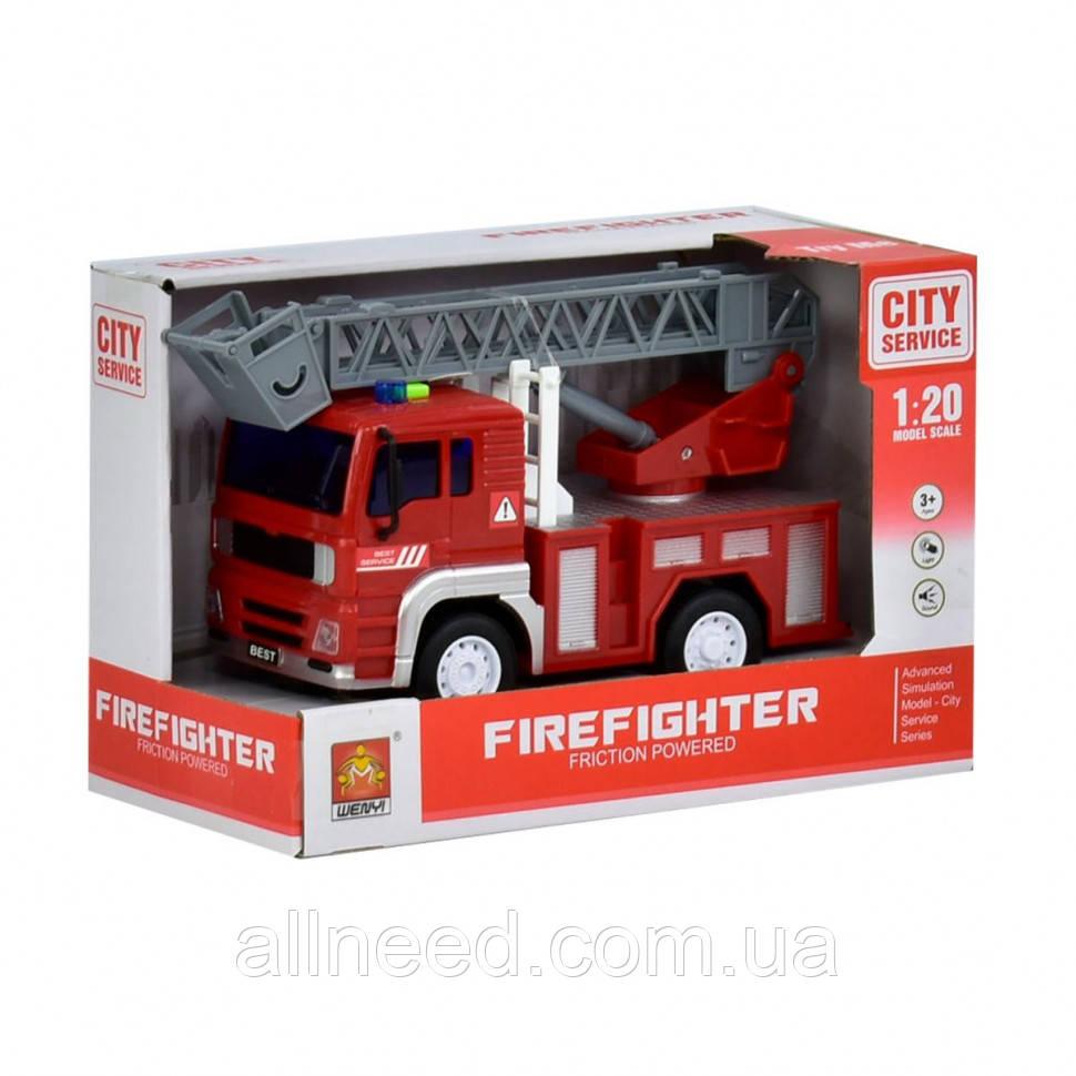 Инерционная пожарная машина с подъёмником WY551B