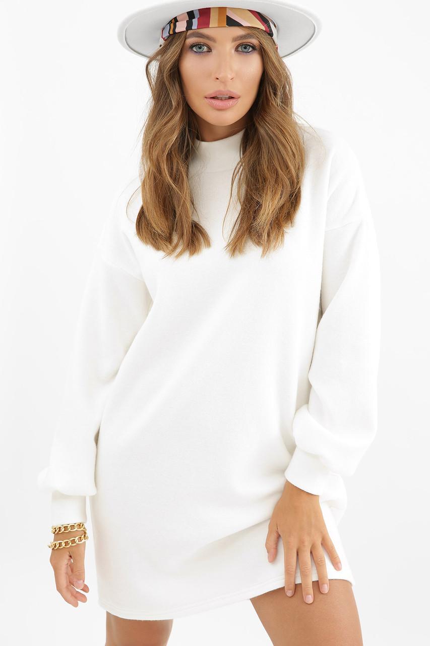 Белое теплое платье
