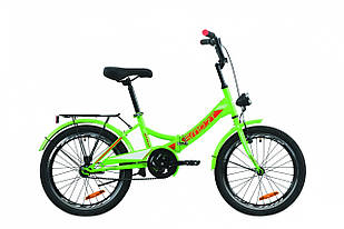 """Велосипед уцінений 20"""" Formula SMART з багажником зад St, з крилом St, з ліхтарем 2020 (зелено-червоний з білим)"""