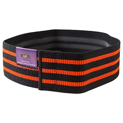 Лента эластичная черно-оранжевая VALEO, 80x8 см