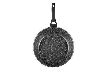 Глубокая сковорода алюминиевая с антипригарным покрытием Ardesto Gemini Gourmet 28см Черная (AR1928DF)