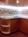 Кухня на заказ МДФ крашеный с фрезеровкой, фото 3