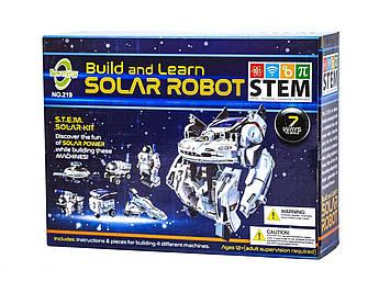 Конструктор на солнечных батареях Робот Космопарк 7 в 1