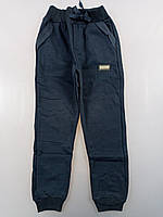 {есть:11 лет,12 лет} Спортивные брюки с начесом для мальчиков, Артикул: T2578-т.синий [11 лет]