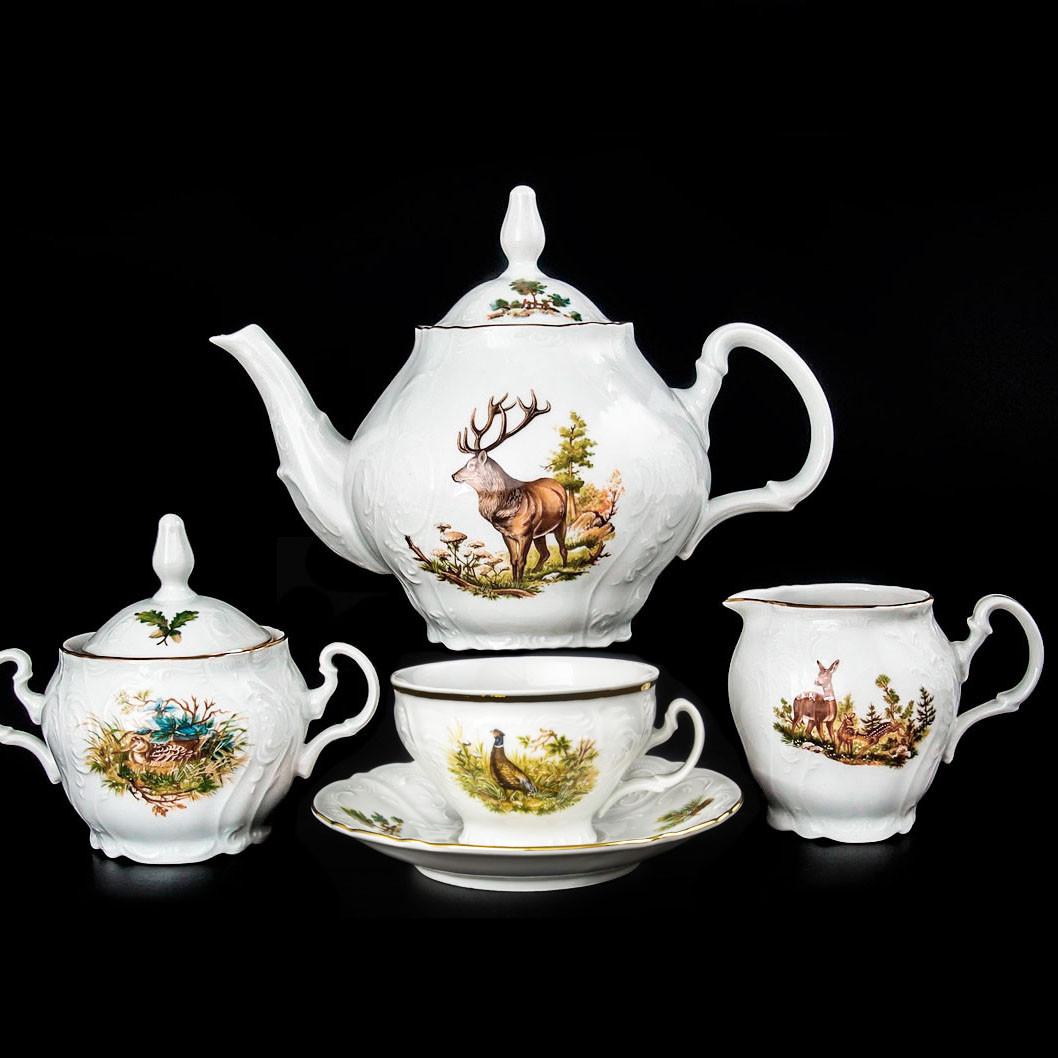 Сервиз чайный 17 предметов Охотничий мотив Bernadotte Thun U001011-17-6