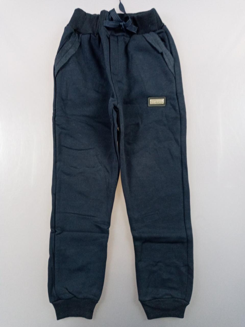 {есть:11 лет,12 лет} Спортивные брюки с начесом для мальчиков, Артикул: T2578-т.синий [12 лет]