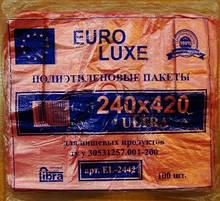 Пакет майка euroluxe 24*42 розовый
