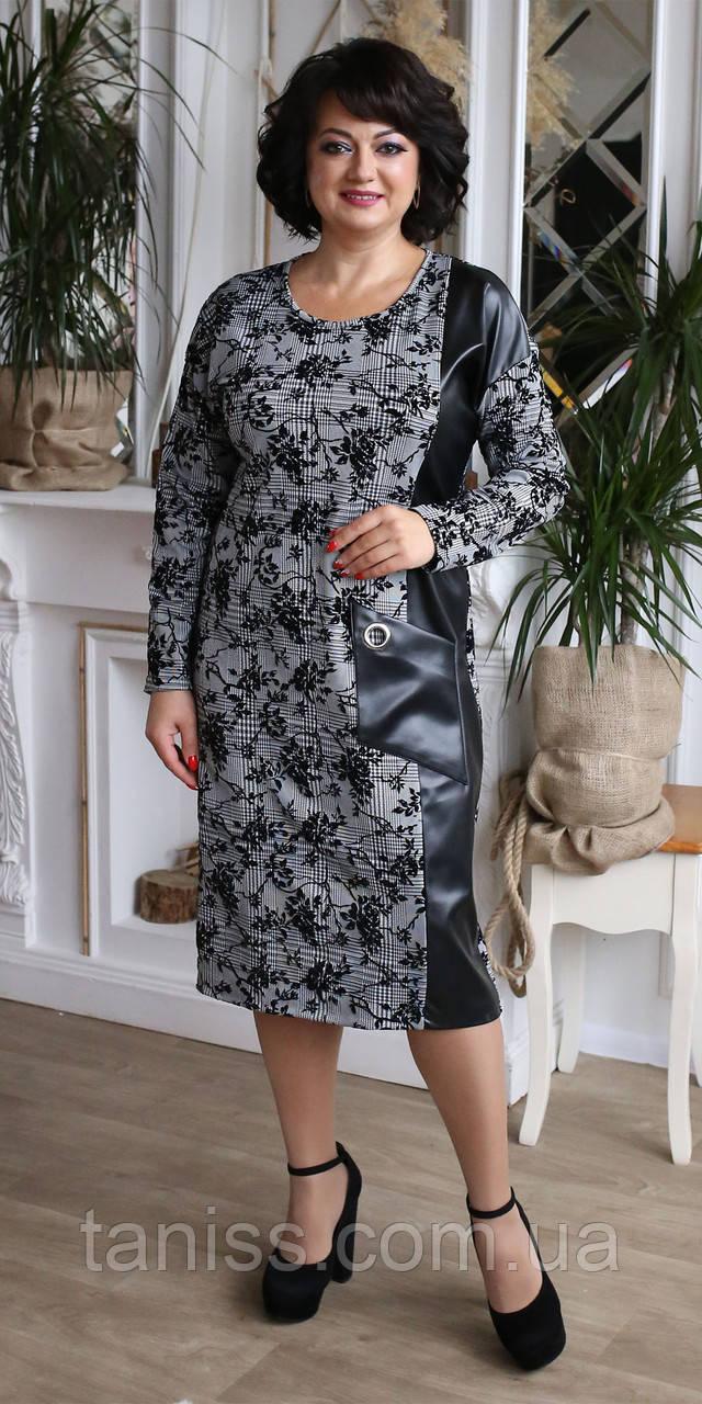 Женское  нарядное платье,, размеры 52,54,56,52 (2082)  серое ,сукня