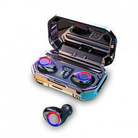 Беспроводные Bluetooth наушники TWS M12 водонепроницаемые кейс Power Bank Black New model