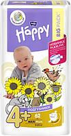 Подгузники детские Bella Baby Happy Maxi Plus 9-20 кг 62 шт (5900516601140)