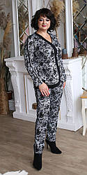 Женский нарядный брючный  костюм ,  размеры 50,52,54,56, (2091) серый ,костюм