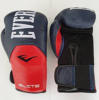 Перчатки боксерские кожаные на липучке EVERLAST PRO STYLE ELITE р-р 12oz