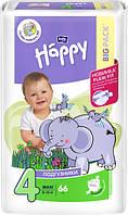 Подгузники детские Bella Baby Happy Green Tea 3D Maxi 8-18 кг 66 шт (5900516602888)