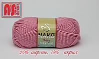 Nako Baby Marvel розовая -  25% шерсть, 75% акрил