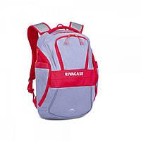 RIVACASE 5225 серо-красный рюкзак для ноутбука 15.6 дюймов.