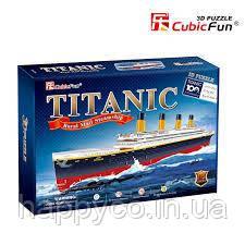 """Трехмерная головоломка-конструктор """"Титаник"""" Cubic Fun"""