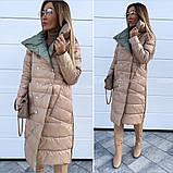 Женская зимняя двухсторонняя куртка удлиненная фото реал много цветов, фото 2