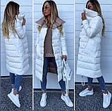 Женская зимняя двухсторонняя куртка удлиненная фото реал много цветов, фото 4