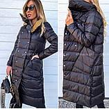 Женская зимняя двухсторонняя куртка удлиненная фото реал много цветов, фото 8