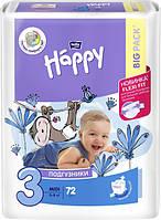 Подгузники детские одноразовые Bella Baby Happy Green Tea Midi 5-9 кг 72 шт (5900516602864)