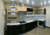 Кухня на заказ Шпон с фризеровкой, фото 1