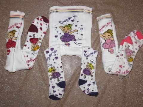 Колготки для новонароджених махрові 7481 танцююча дівчинка