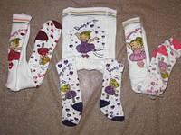 Колготки для новорожденных махровые 7481 танцующая девочка