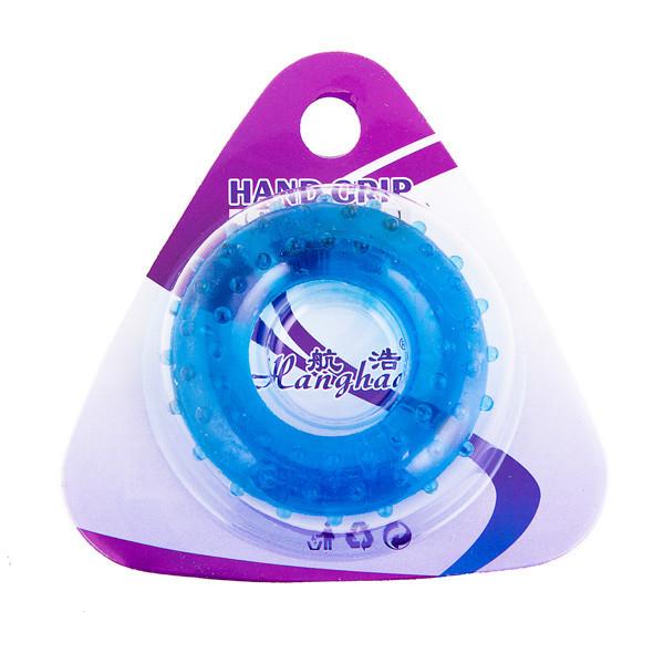 Эспандер кистевой массажный синий, усилие 20кг