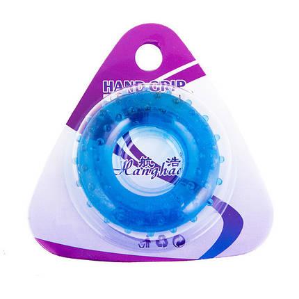 Еспандер кистьовий масажний синій, зусилля 20кг, фото 2