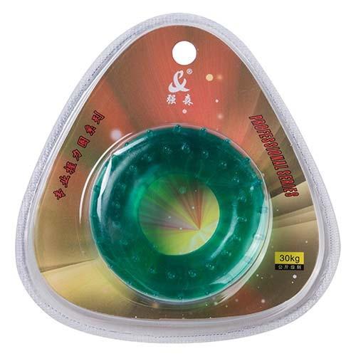 Эспандер кистевой массажный зеленый, усилие 30кг