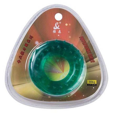 Эспандер кистевой массажный зеленый, усилие 30кг, фото 2