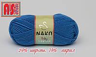 Nako Baby Marvel голубая -  25% шерсть, 75% акрил